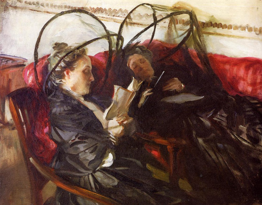John Singer Sargent. Mosquito nets