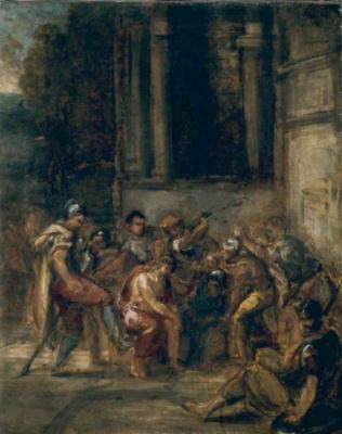 Эжен Делакруа. Христос во дворце Пилата