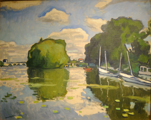 Albert Marquet. The Seine at Poissy