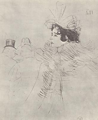 Henri de Toulouse-Lautrec. Miss May Belfort à l'Irish and American Bar