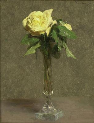 Анри Фантен-Латур. Желтая роза