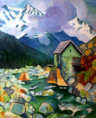 Макс Пехштейн. Дом в горах
