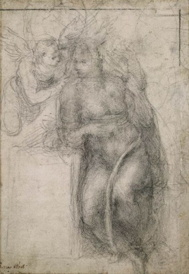 Michelangelo Buonarroti. The Annunciation (sketch)