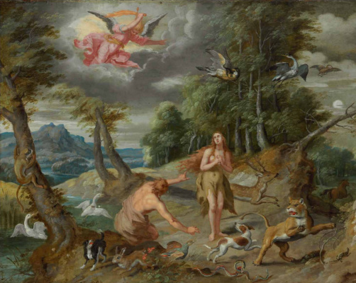 Jan Brueghel the Younger. The Story of Adam and Eve: Exile from Paradise