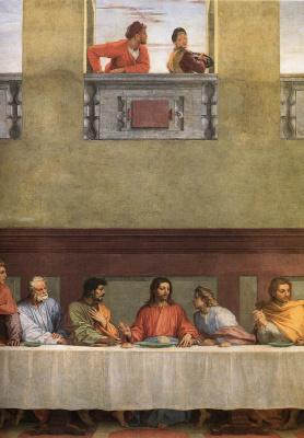 Андреа дель Сарто. Тайная Вечеря (фрагмент)