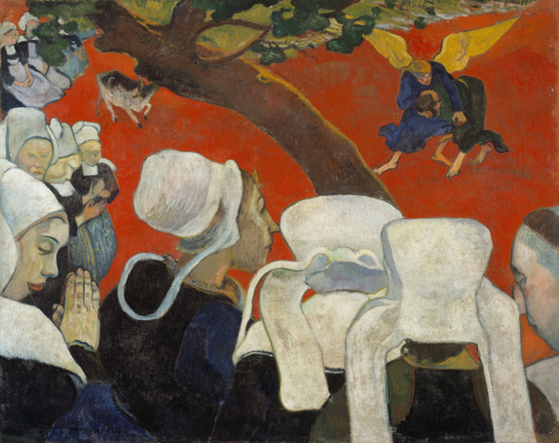 Paul Gauguin. The vision after the sermon, or Jacob Wrestling with the angel