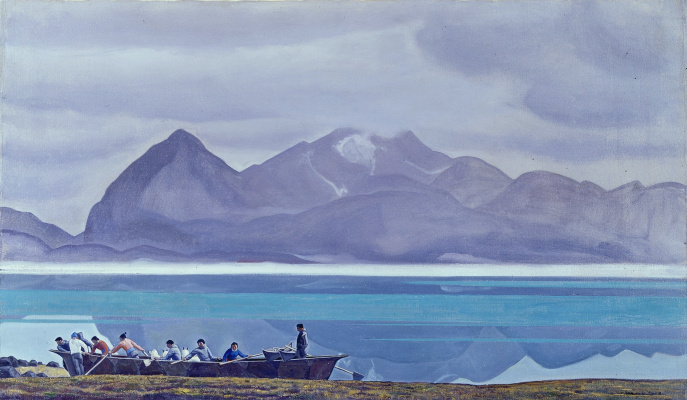 Rockwell Kent. Greenland. People, dogs and mountains