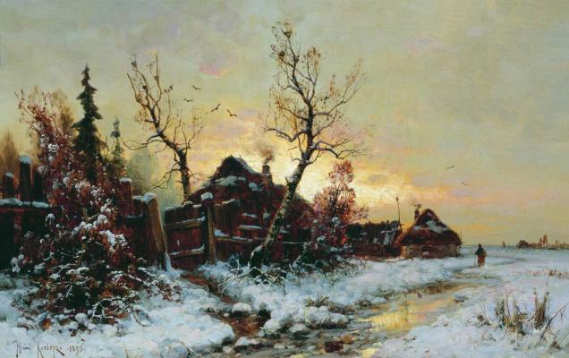 Julius Klever. Winter landscape