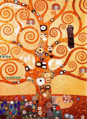 Gustav Klimt. The tree of life (detail of the frieze of the Palace Stoclet)
