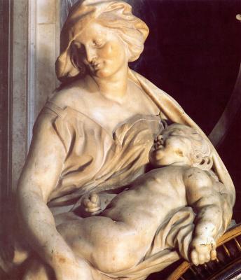 Gian Lorenzo Bernini. Tomb of Pope urban VIII (fragment)