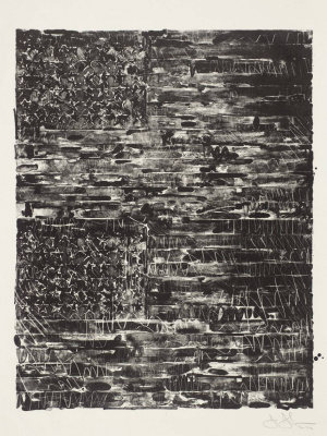 Jasper Jones. Two flags (black)