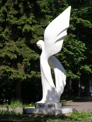 """Adolf Efraimovich Neustat. The monument """"to the Fallen and the living"""""""