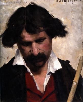 Helena Sophia Scherfbek. Portrait of a man