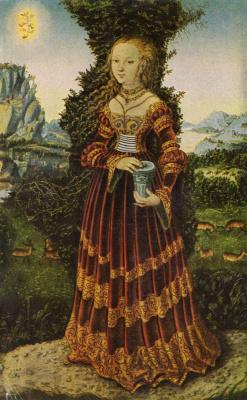 Лукас Кранах Старший. Портрет саксонской аристократки в виде Марии Магдалины