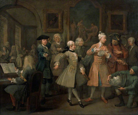 William Hogarth. Mota's career. Morning surgery