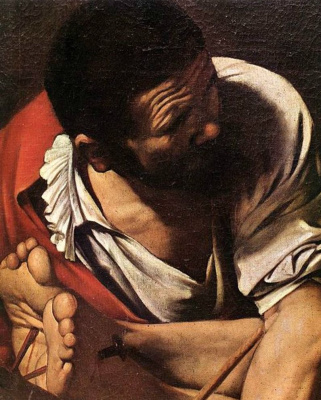 Michelangelo Merisi de Caravaggio. The Crucifixion Of St. Peter. Fragment