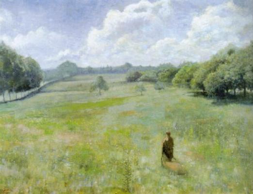 Jean Delville. In the fields