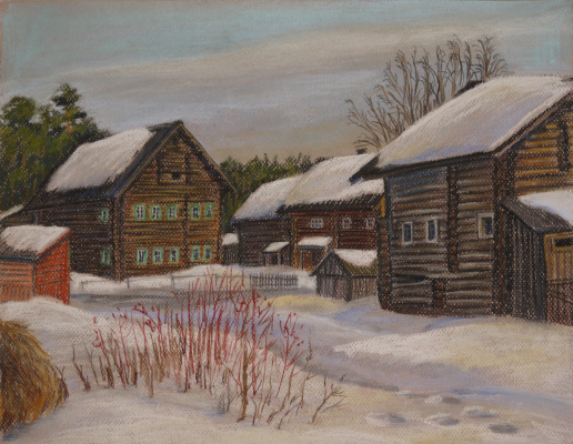 Irina Soboleva. March in the Karelian village