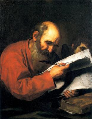 Jose de Ribera. Saint Matthew