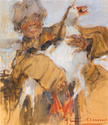 Nikolay Feshin. Cossack goose
