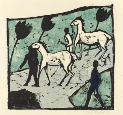 Erich Heckel. White horse