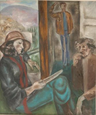 Ksenia Vasilyevna Nechitailo. On the bench