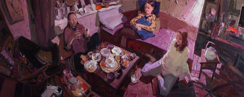 Sayan Baigaliyev. Purple conversation