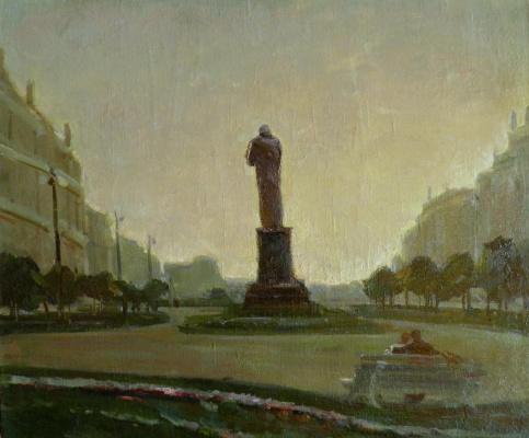 George Grigorievich Nyssa. Cityscape. Evening