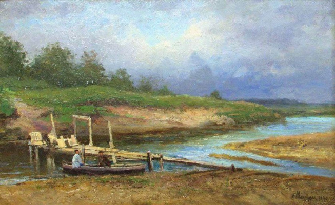 Alexandra Egorovna Makovsky. The river