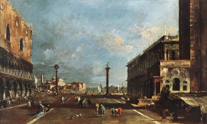 Francesco Guardi. View of Piazza San Marco towards San Hiochio Major