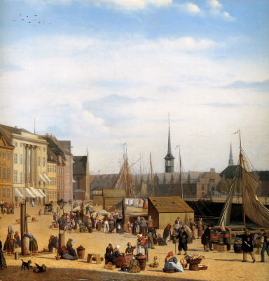 Салли Энрикес. Рынок в Копенгагене