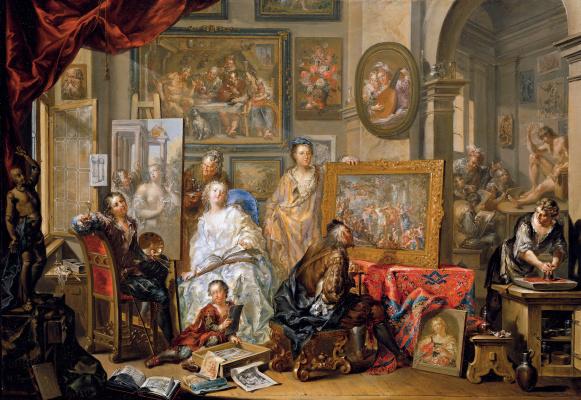 Иоганн Георг Платцер. В мастерской художника - 2