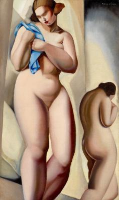 Тамара Лемпицка. Две обнаженных в перспективе.1925