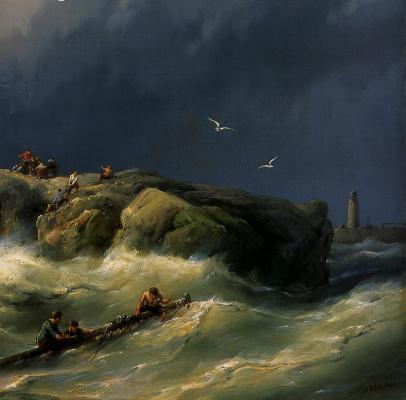 Ян Куккук. Кораблекрушение у берега. Детали1