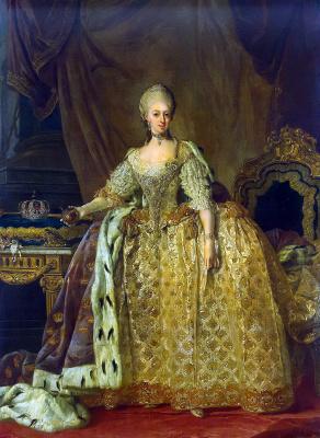 Лоренц Младший Паш. Портрет королевы Софии-Магдалены