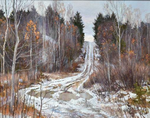 Oleg Borisovich Zakharov. Early snow in the old quarry.