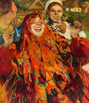 Philip Andreevich Malyavin. Laughing woman
