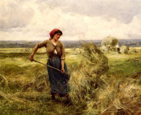 Жюльен Дюпре. Женщина переворачивает сено