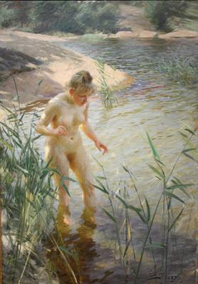 Anders Zorn. Bather