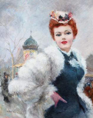 Фрид Пал. Дама с собачкой. 1950 (ок)
