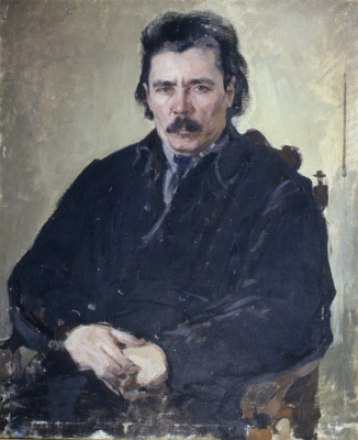 Pavel Petrovich Benkov. Portrait of the writer G. Ibragimov