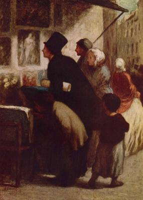 Honore Daumier. The merchant prints