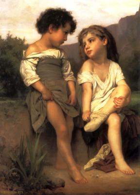 William-Adolphe Bouguereau. Little bathers