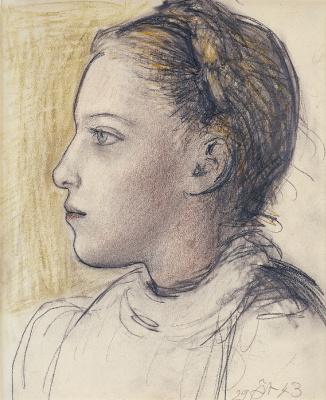 Портрет Майи в профиль