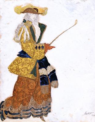 "Лев Самойлович Бакст (Леон Бакст). Эскиз костюма к балету ""Спящая принцесса"""