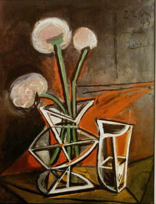 Пабло Пикассо. Ваза с цветами