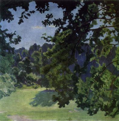 Arkady Alexandrovich Rylov. Through the oak branches