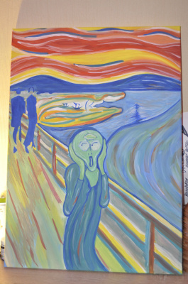 Anton Bashkov. Edvard Munch scream №3 Remake 2018, Эдвард Мунк крик №3 ремейк 2018