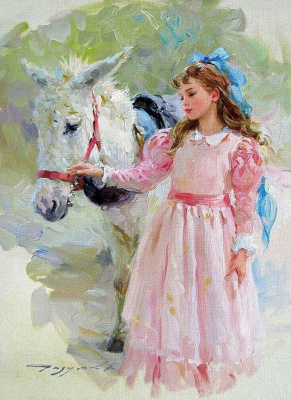 Константин Разумов. Девочка с конем