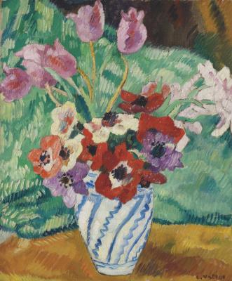 Луи Вальта. Тюльпаны и анемоны